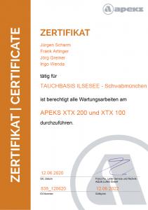 ZertifikatXTX100200